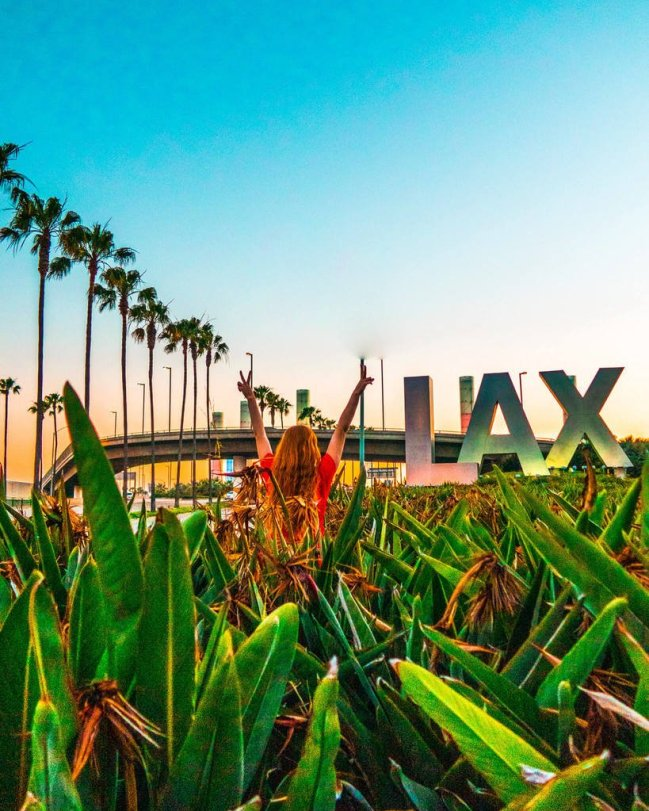LAX sign instagrammable places in LA