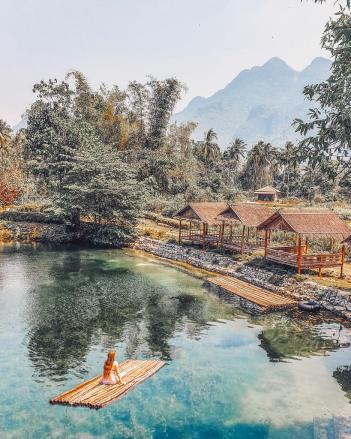 blue lagoon 3 vang vieng Laos