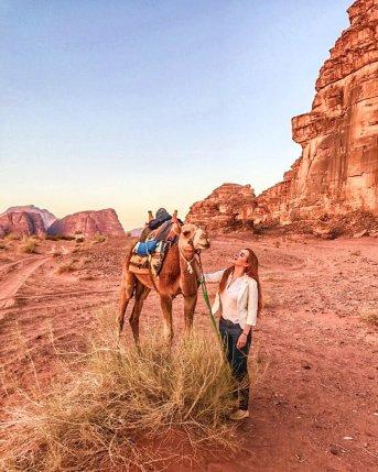 camel ride desert
