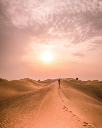 UAE desert sunrise