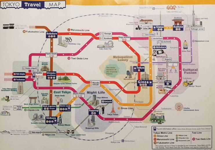 24 hours in tokyo metro map