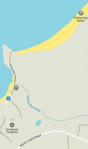 stokes bay beach tunnel map