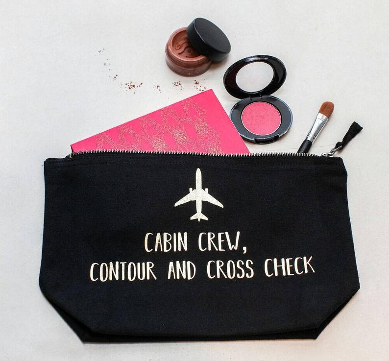 flight attendant makeup brush bag