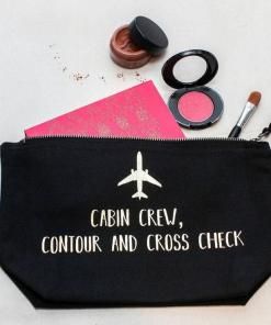 flight attendant makeup brush bag