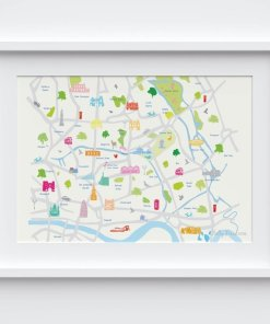 map of east London wall art