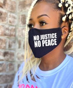 BLM Black Lives Matter Facemask No Justice No Peace