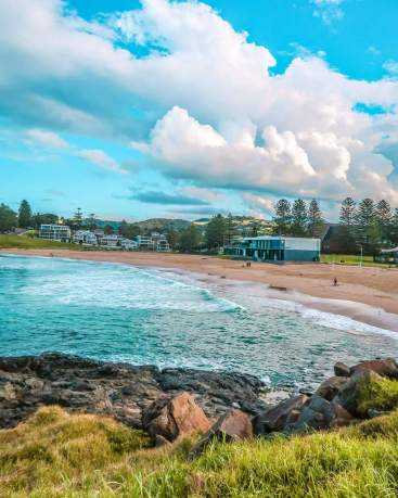 surf beach Kiama attractions