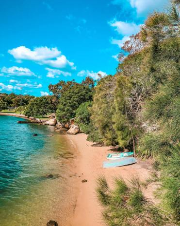 secluded beaches Sydney iron cove