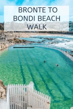 Bronte to bondi beach walk