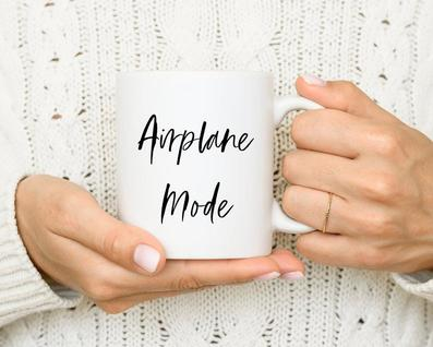 airplane mode mug