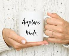 airplane mode mug