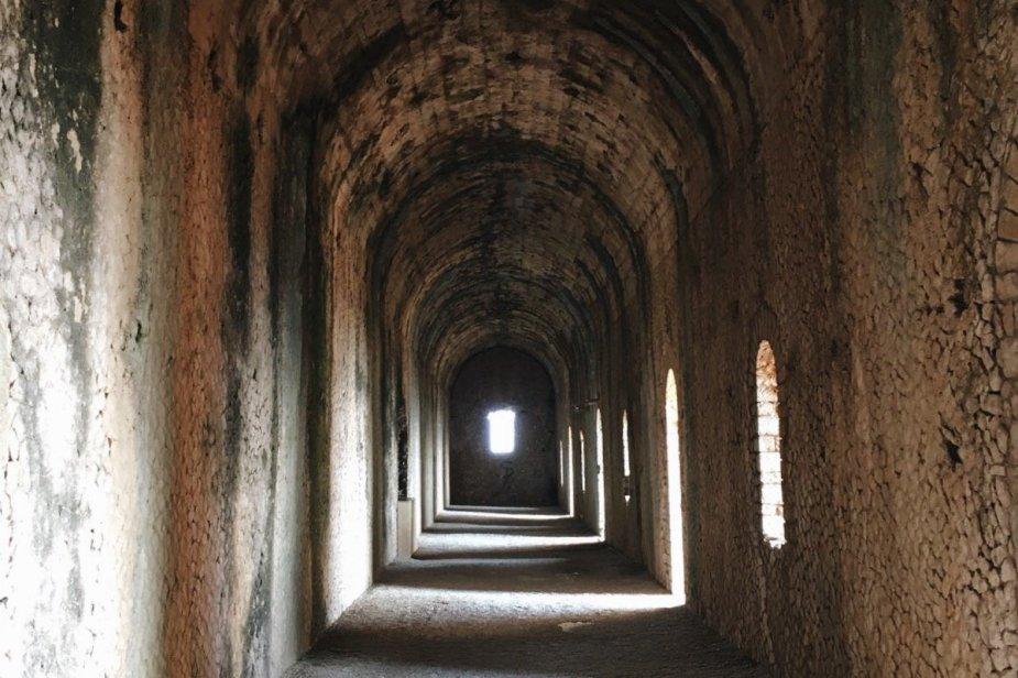 interno del tempio di Giove Anxur a Terracina