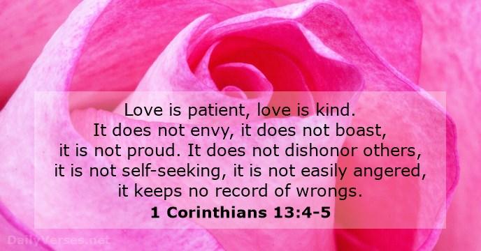 1 Korintus 13:4-5