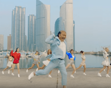 "Psy dancing in ""Daddy"""