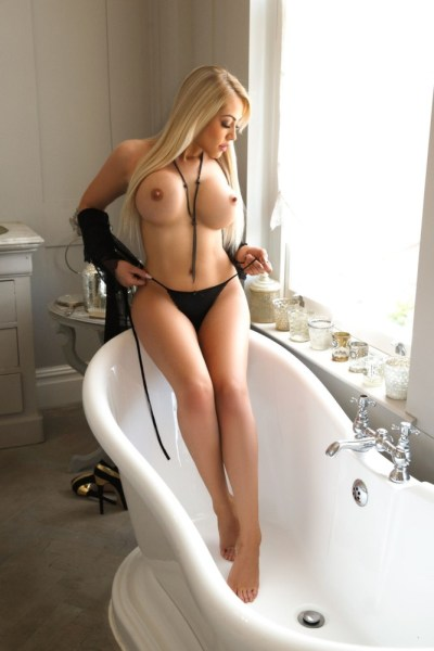 Denny Slim and Very Busty Blonde London Escort in Marble Arch