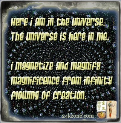 Here I am in the universe