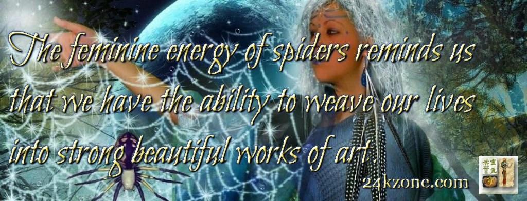 The feminine energy of spiders