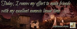 Today I renew my effort