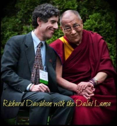 Richard Davidson with the Dalai Lama