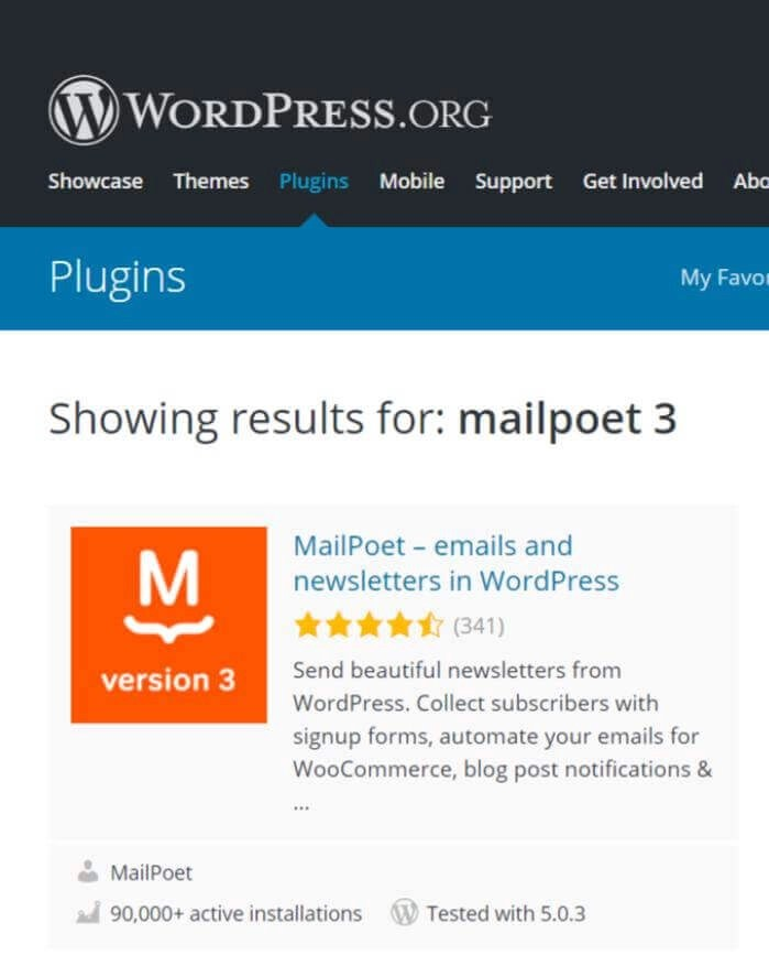 MailPoet 3 plugin screenshot