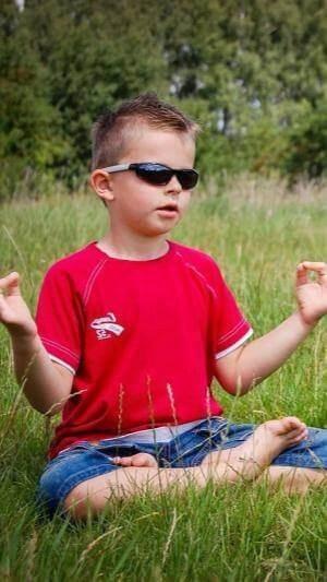Meditation boy