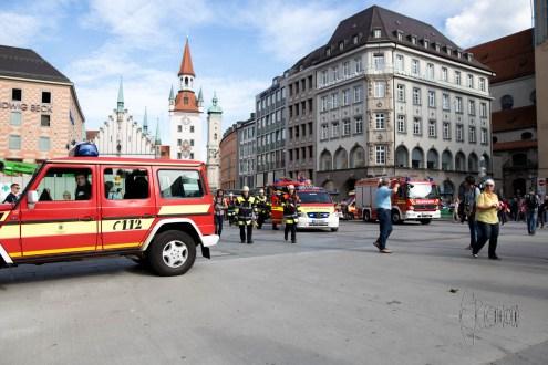 fire, fireworkers, marienplatz, ubahn