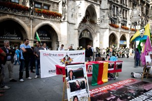 marienplatz 260615 5 - Kurdisch community of Munich remembers killed civilians in Kobane - 1