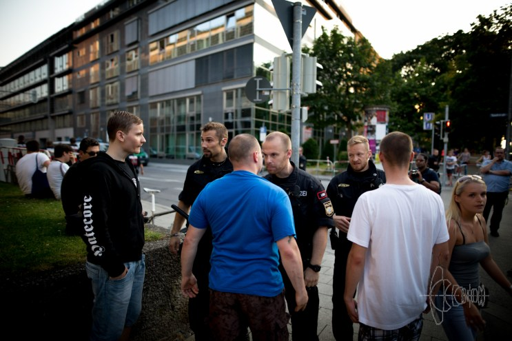 Convicted neonazi terrorist steps up to Police forces.