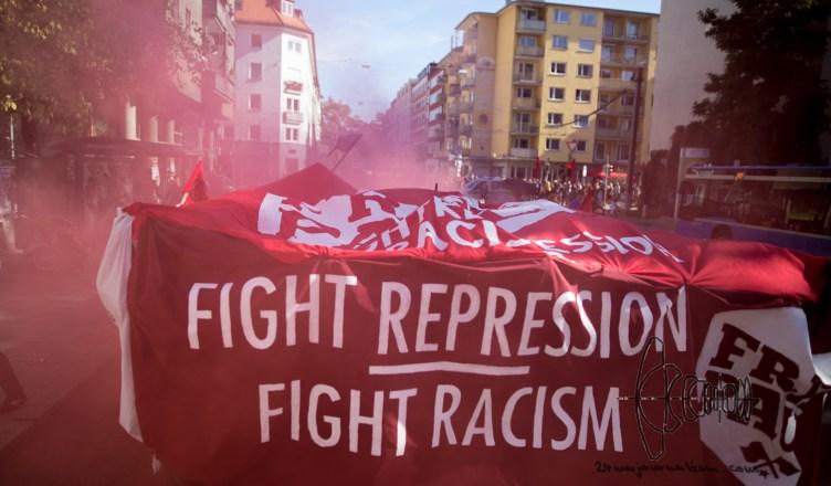 free paul blog 4 - Free Paul demonstration in Munich - demanding anti PEGIDA activists release