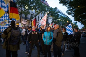 pegida 140915 9 - Convicted neonazi terrorist among the racist rally.