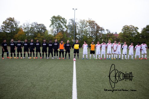 Munichs first refugee soccer team ESV Neuaubing plays against SV Tuerkspor Allach