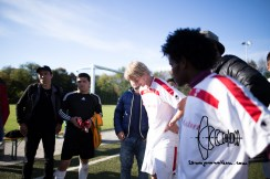 Munichs first refugee soccer team ESV Neuaubing plays against SV Tuerkspor Allach