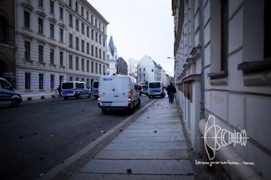 Police backs up in panic of attacks.