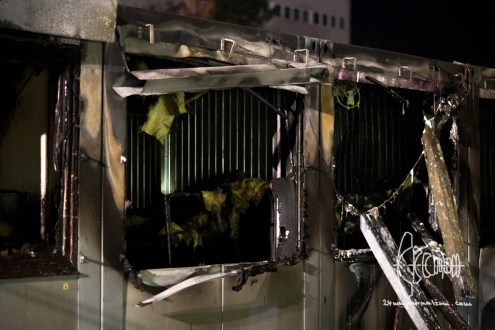 Fire in refugee housing unit in Munich.