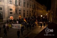 PEGIDA re-arrives at historicaly charged ODeonsplatz.