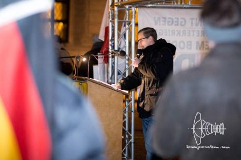 Speaker opens PEGIDA march on January 25th.