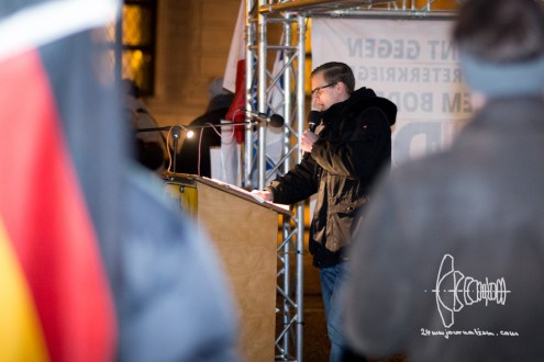 Speaker opens PEGIDA march on January 25th.