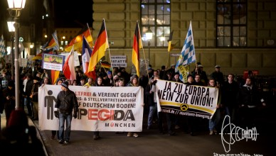 pegida 20160125 8 - PEGIDA Munich 01-25-16 - Identitarian Movement Joins With Banner