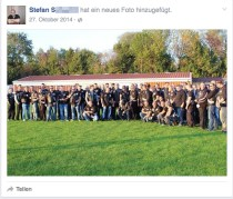 Screenshot from Stefan S. Facebook profile - showing him with United Tribuns motorcycle gang.