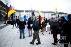 The political party 'AFD' rallies through small town of Geretsried