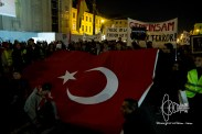 Turkish nationalist demonstration whilst Kurdish community holds New-Year festivities
