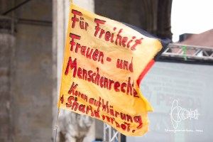 pegida 20160425 9 - PEGIDA Munich removed swastika-in-trashcan from Frontbanner