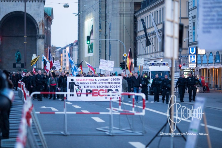 PEGIDA returns to Odeonsplatz