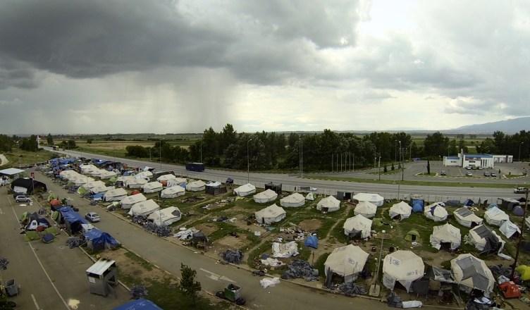 header article - Camp Eviction at Macedonian Border