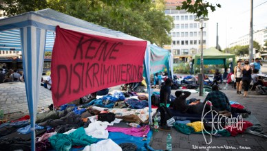 sendltor refugeestrike  12160910 - Non-Citizen Protest at Sendlinger Tor in Munich