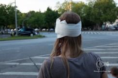 Hurt protestor