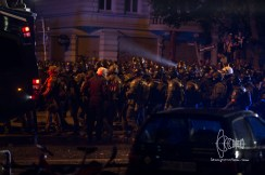 SEK, USK and BFE start fighting their way into Schulterblatt street