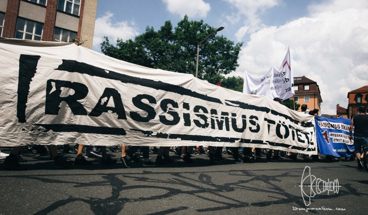 afdlpt blog 9 - [Picture Gallery] Protest against far-right AfD party meeting in Nuremberg