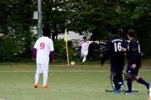 Munichs first refugee socker team ESV Neuaubing plays against SV Tuerkspor Allach