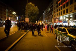 PEGIDA marches during Oktoberfest - police violence errupts at rally on the way